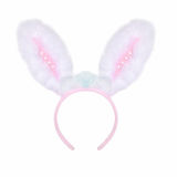 Fluffy pink rabbit ears on a white Royalty Free Stock Photography
