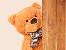 Fluffy plush teddy bear Stock Photo