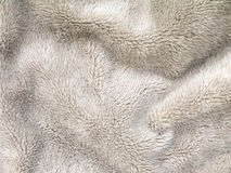 Fluffy polyester fleece fabric Royalty Free Stock Images