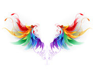 Fluffy rainbow wings Royalty Free Stock Photo