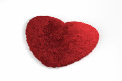 Fluffy red heart. 3d fur red heart love symbol Stock Photography