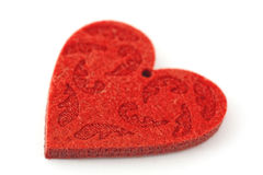 fluffy red heart shape Royalty Free Stock Photos