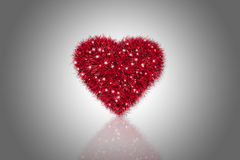 Fluffy Red Heart Royalty Free Stock Image