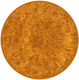 Fluffy round carpet  in brown ,yellow colors Stock Photography