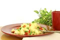 Fluffy Scrambled Eggs Stock Photography