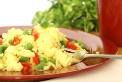 Fluffy Scrambled Eggs Stock Photo