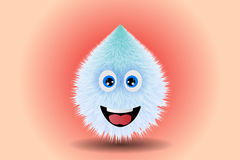 Fluffy smiling monster drawing vector illustration Royalty Free Stock Image