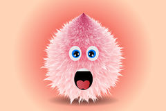 Fluffy smiling monster drawing vector illustration. Unique Stock Photo