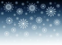 Fluffy snowflakes Royalty Free Stock Photos