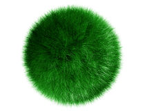 Fluffy sphere. On a white background Stock Photos