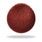 Fluffy sphere. Abstract Fluffy sphere CGI illustration Stock Images