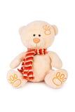 Fluffy teddy bear. On white background Stock Photo