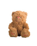 Fluffy teddy bear sitting Royalty Free Stock Images