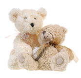 Fluffy teddy bears Royalty Free Stock Images