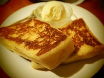 Fluffy toast. Royalty Free Stock Images