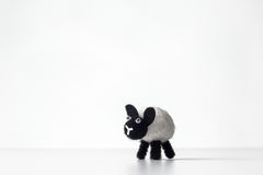 Fluffy toy sheep Royalty Free Stock Image