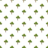 Fluffy tree pattern Stock Images