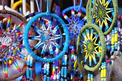Fluffy variety of dream catchers Stock Photos
