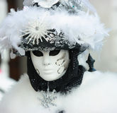 Fluffy Venetian mask Royalty Free Stock Photography
