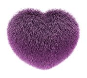 Fluffy warm heart pink Royalty Free Stock Images