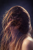 Fluffy wet hair Stock Photography