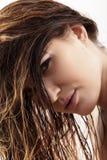 Fluffy wet hair Stock Photo