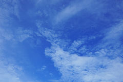 Fluffy white cloud and blue sky Stock Photography