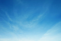 Fluffy white cloud and blue sky Stock Photo