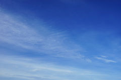 Fluffy white cloud and blue sky Royalty Free Stock Photography