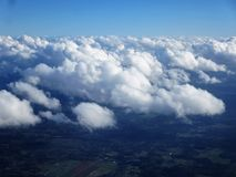 Fluffy white clouds Royalty Free Stock Photos