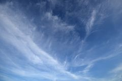 Fluffy white clouds. Stock Photo