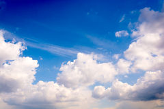 Fluffy white clouds Royalty Free Stock Image