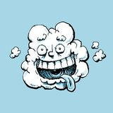 Fluffy White Laughing Cloud Stock Photos