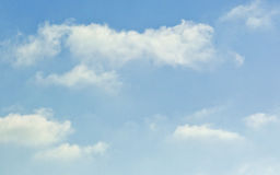 Fluffy white soft clouds Stock Photo