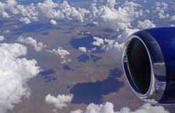 Flug über Afrika lizenzfreie stockfotos