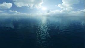 Flug über dem Ozean stock abbildung