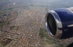 Flug über Johannesburg lizenzfreie stockbilder
