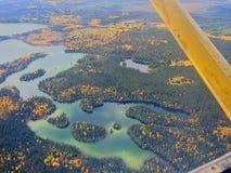 Flug über Kanada Stockfotografie