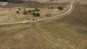 Flug über Landschaft stock video