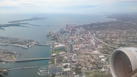 Flug über Miami Lizenzfreie Stockfotos
