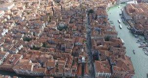 Flug über Venedig Italien stock video
