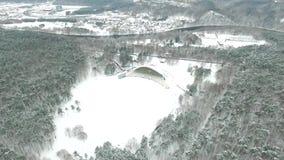 Flug über vingis parken Vilnius stock footage