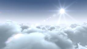 Flug über Wolken vektor abbildung