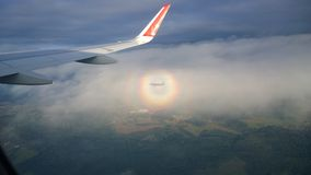 Flug auf einem Flugzeug Stockbild