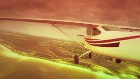 Flug auf einem Privatjet, POV