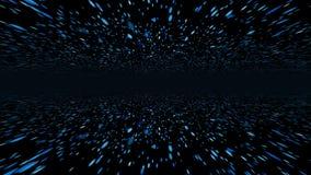 Flug 3D von Partikeln 4K vektor abbildung