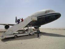 Flug an der Wüste, stockbild