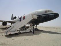 Flug an der Wüste, stockfoto