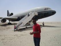 Flug an der Wüste, stockfotografie