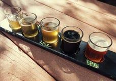 Flug des Handwerks-Bieres stockfoto